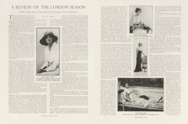 Article Preview: A REVIEW OF THE LONDON SEASON, September 1913 | Vanity Fair