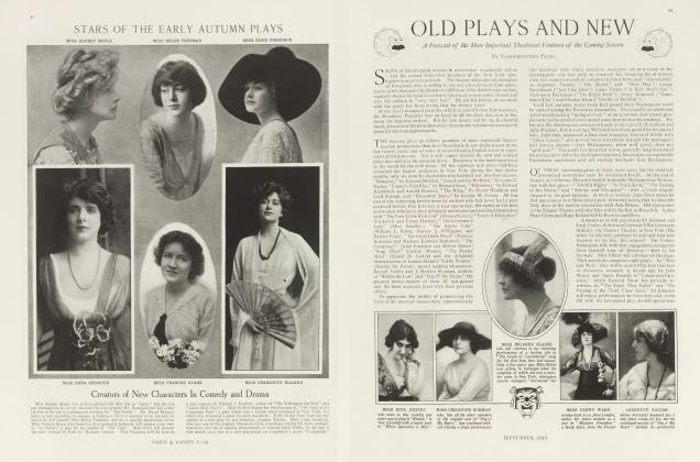 Article Preview: OLD PLAYS AND NEW, September 1913 | Vanity Fair