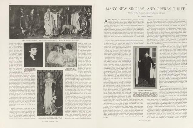 Article Preview: MANY NEW SINGERS, AND OPERAS THREE, September 1913 | Vanity Fair
