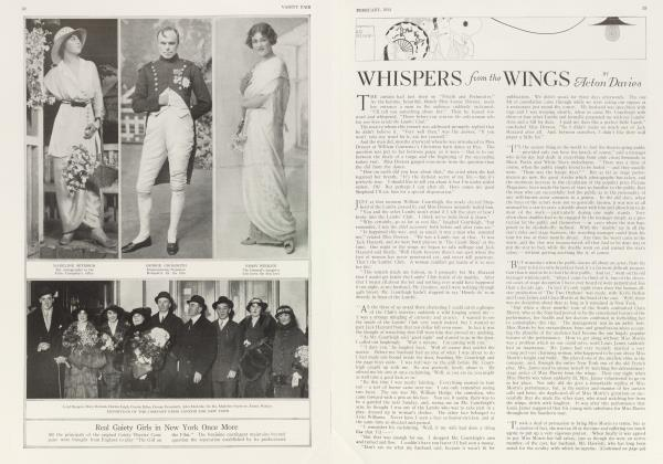 Article Preview: WHISPERS from the WINGS, February 1914 1914 | Vanity Fair