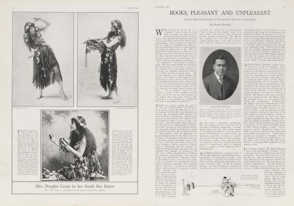Article Preview: BOOKS, PLEASANT AND UNPLEASANT, October 1914 1914 | Vanity Fair