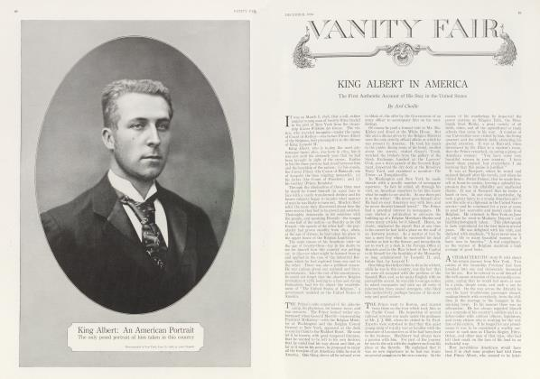Article Preview: KING ALBERT IN AMERICA, December 1914 1914 | Vanity Fair