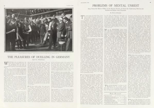 Article Preview: THE PLEASURES OF DUELLING IN GERMANY, December 1914 1914 | Vanity Fair