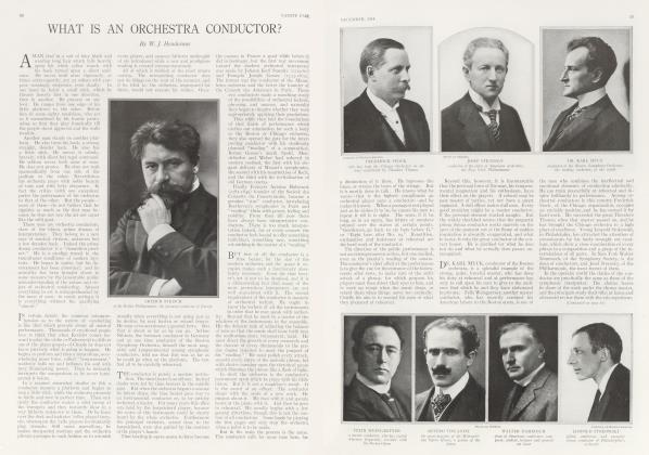 Article Preview: WHAT IS AN ORCHESTRA CONDUCTOR?, December 1914 | Vanity Fair
