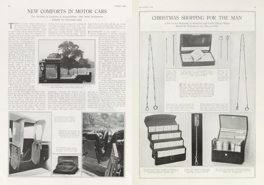NEW COMFORTS IN MOTOR CARS