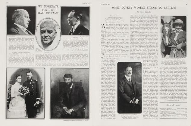 Article Preview: WHEN LOVELY WOMAN STOOPS TO LETTERS, October 1915 1915 | Vanity Fair