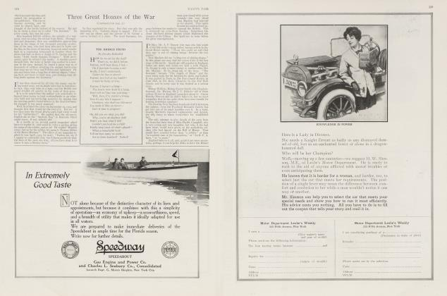 Article Preview: THE BRIDGE FIEND, January 1916 1916   Vanity Fair