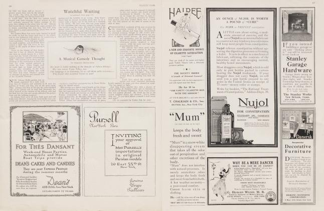 Article Preview: A Musical Comedy Thought, June 1916 1916   Vanity Fair