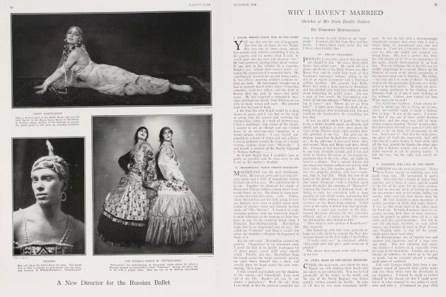 Article Preview: WHY I HAVEN'T MARRIED, October 1916 1916 | Vanity Fair