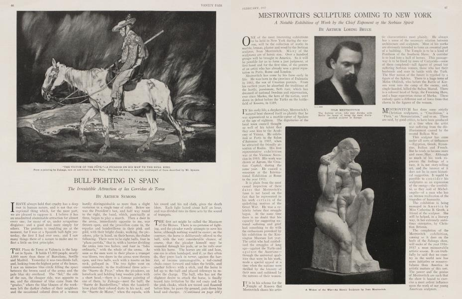 MESTROVITCH'S SCULPTURE COMING TO NEW YORK