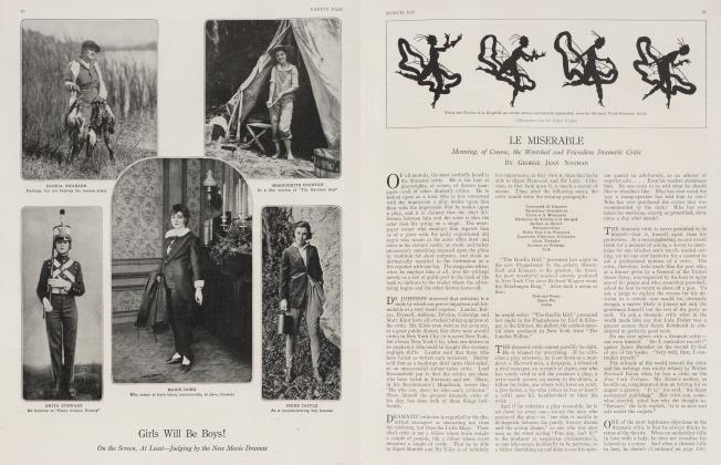 Article Preview: LE MISERABLE, March 1917 1917   Vanity Fair