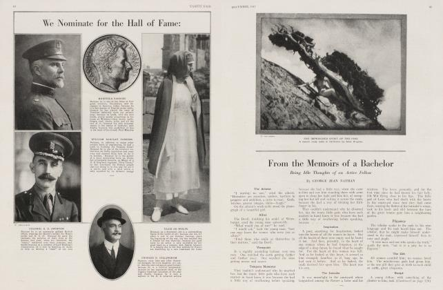 Article Preview: From the Memoirs of a Bachelor, December 1917 1917 | Vanity Fair