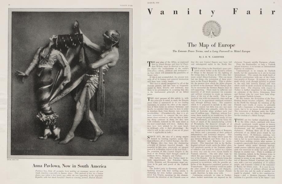 The Map of Europe | Vanity Fair | March 1918