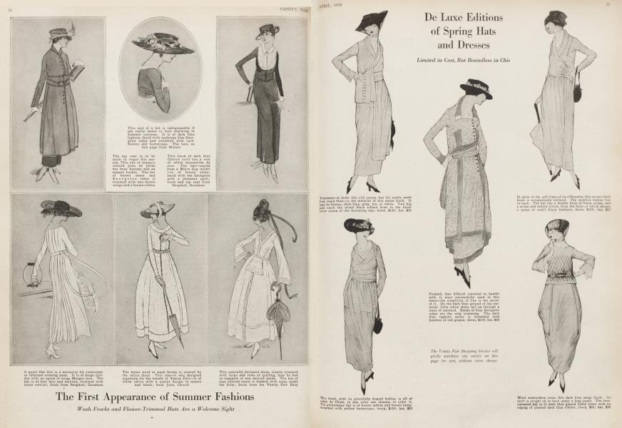 De Luxe Editions of Spring Hats and Dresses