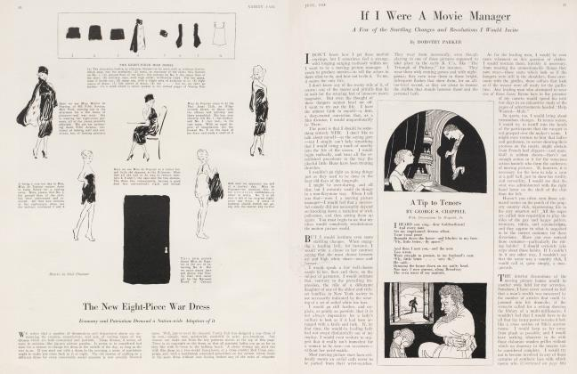 Article Preview: A Tip to Tenors, June 1918 1918 | Vanity Fair