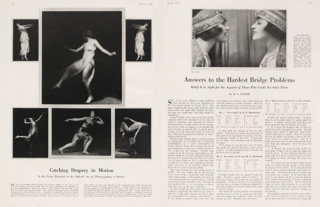 Article Preview: Answers to the Hardest Bridge Problems, June 1918 1918   Vanity Fair