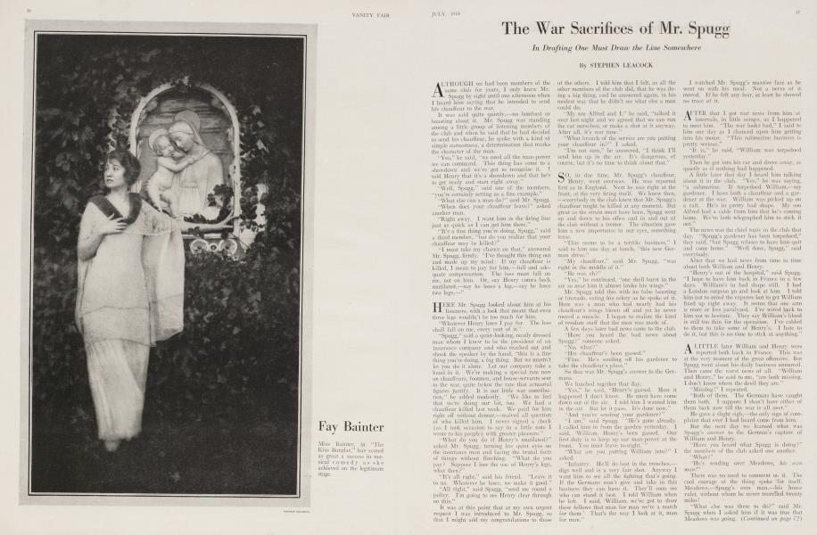 The War Sacrifices of Mr. Spugg