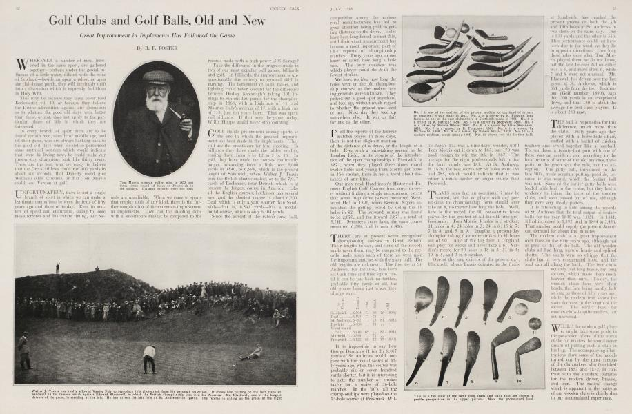 Golf Clubs and Golf Balls, Old and New