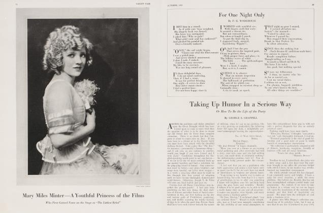 Article Preview: Taking Up Humor In a Serious Way, October 1919 1919 | Vanity Fair