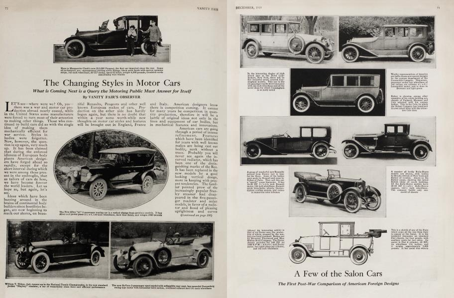 The Changing Styles in Motor Cars