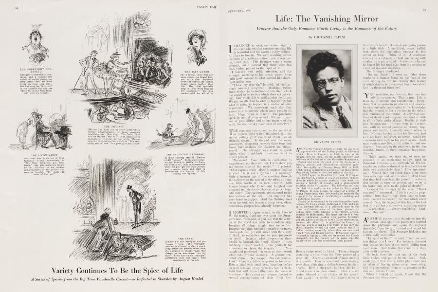 Life: The Vanishing Mirror