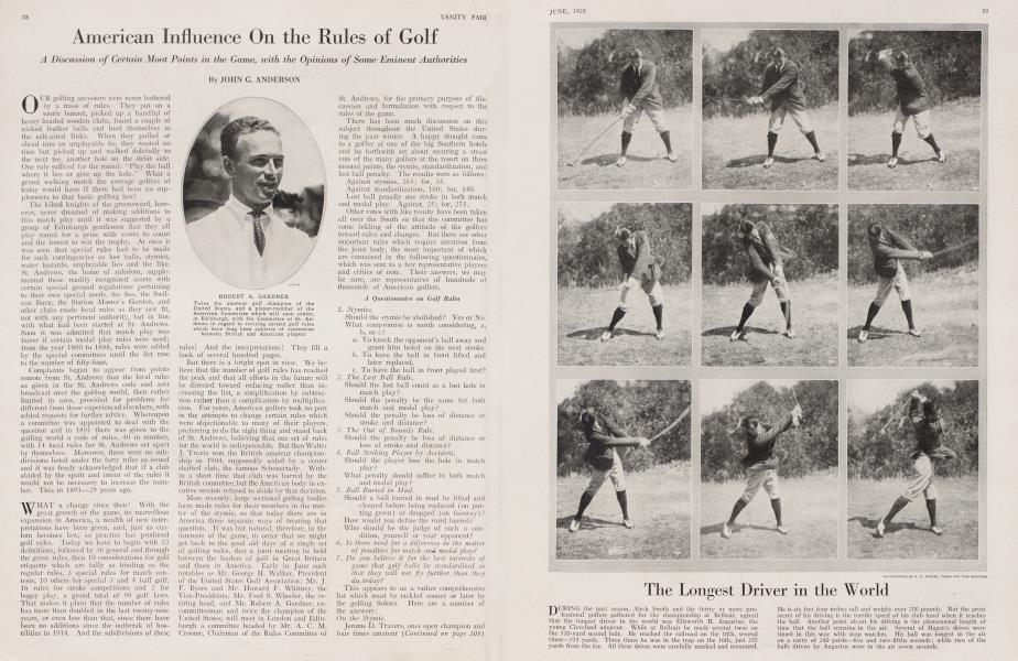 American Influence On the Rules of Golf