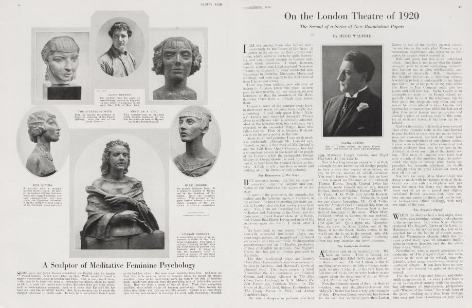 On the London Theatre of 1920