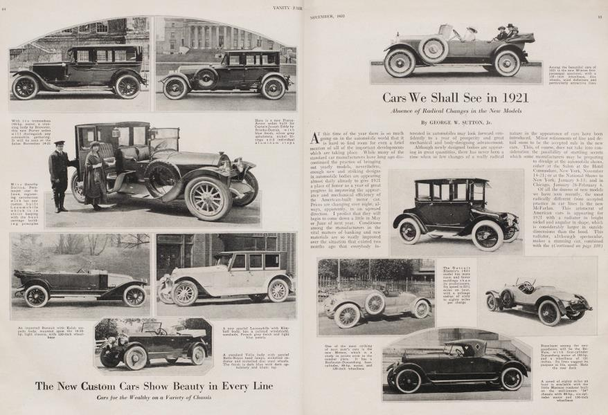 Cars We Shall See in 1921