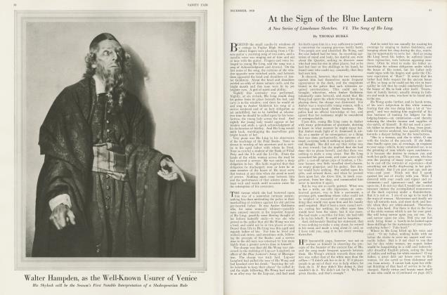 Article Preview: At the Sign of the Blue Lantern, December 1920 | Vanity Fair
