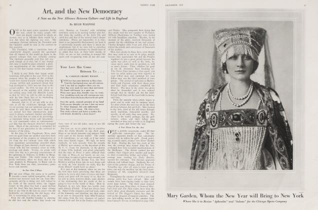 Article Preview: Art, and the New Democracy, December 1920 | Vanity Fair