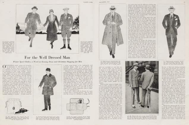 Article Preview: For the Well Dressed Man, December 1920 | Vanity Fair