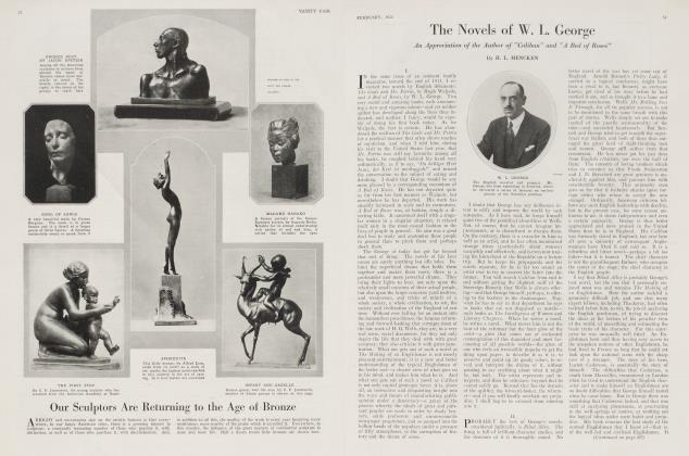 Article Preview: The Novels of W. L. George, February 1921 1921 | Vanity Fair