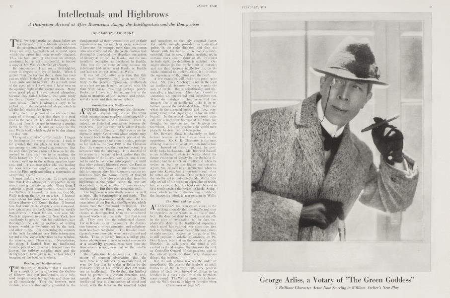 """George Arliss, a Votary of """"The Green Goddess"""""""