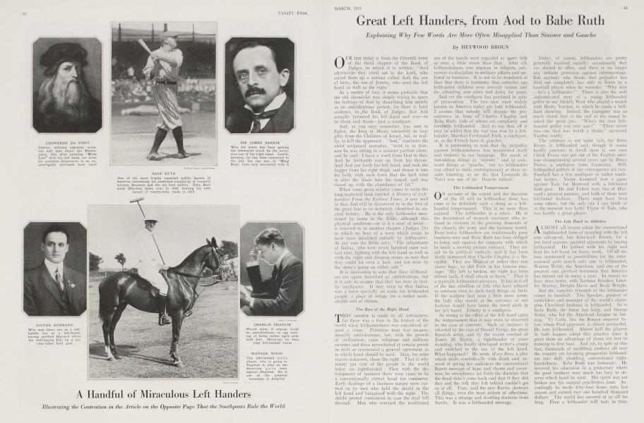 Great Left Handers, from Aod to Babe Ruth