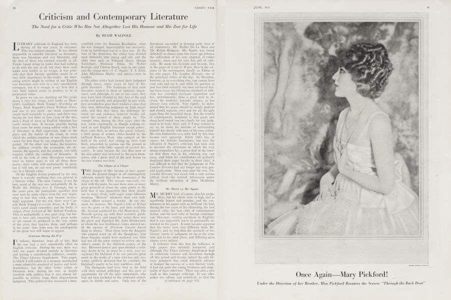 Criticism and Contemporary Literature