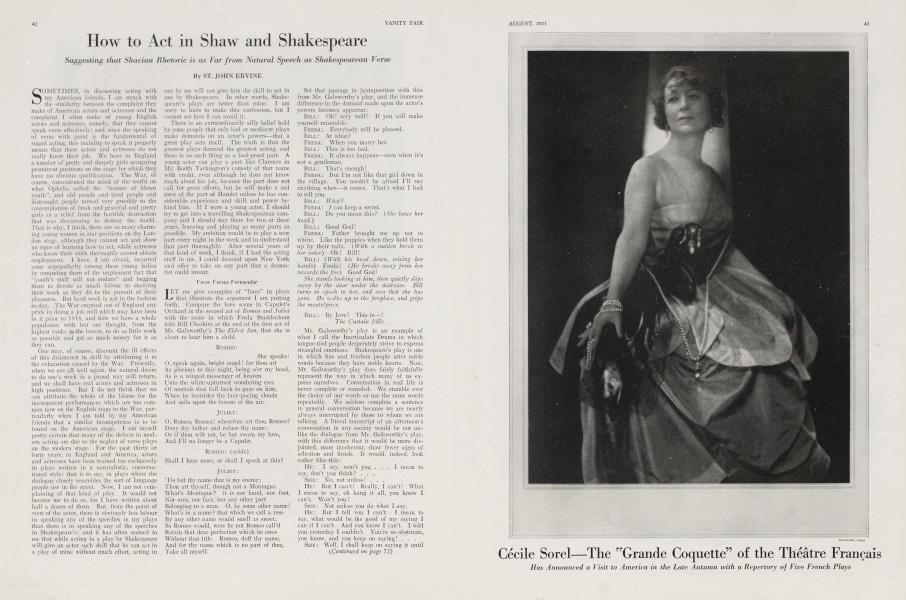 How to Act in Shaw and Shakespeare
