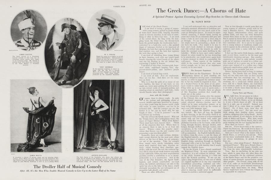 The Greek Dance:—A Chorus of Hate