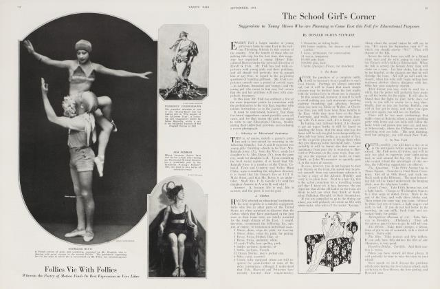 Article Preview: The School Girl's Corner, September 1921 1921 | Vanity Fair