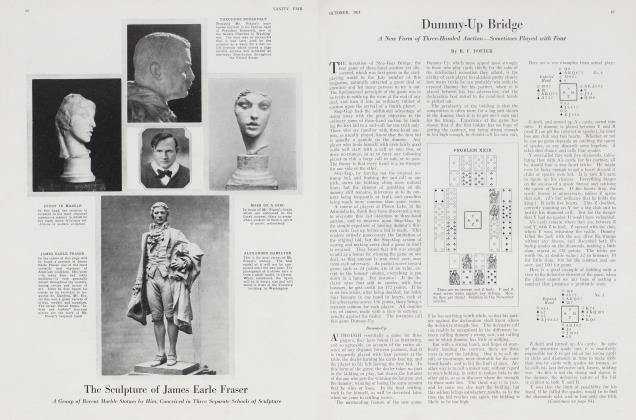 Article Preview: Dummy-Up Bridge, October 1921 1921   Vanity Fair