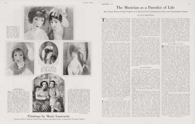 Article Preview: Paintings by Marie Laurencin, November 1921 1921 | Vanity Fair