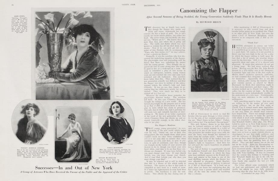 Canonizing the Flapper