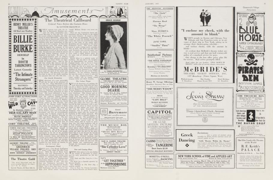 The Theatrical Callboard