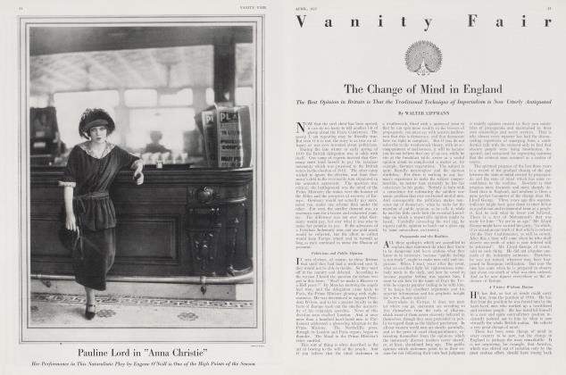 Article Preview: The Change of Mind in England, April 1922 | Vanity Fair