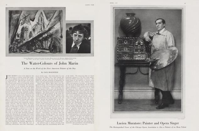 Article Preview: The Water-Colours of John Marin, April 1922 | Vanity Fair
