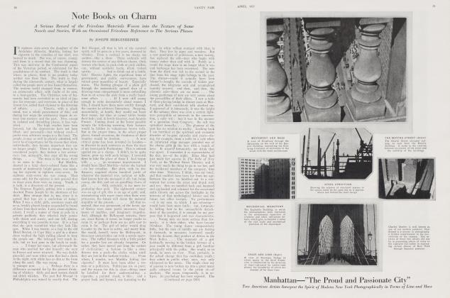 Article Preview: Note Books on Charm, April 1922 | Vanity Fair