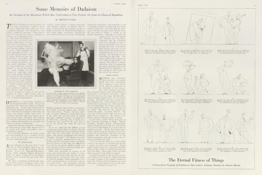 Some Memoirs of Dadaism