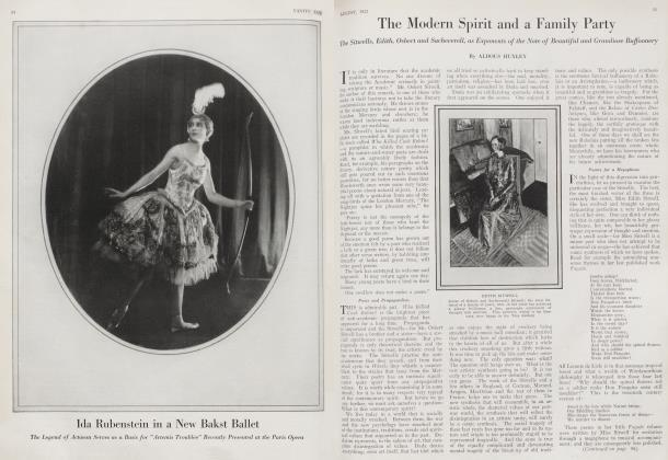 Article Preview: The Modern Spirit and a Family Party, August 1922 1922 | Vanity Fair