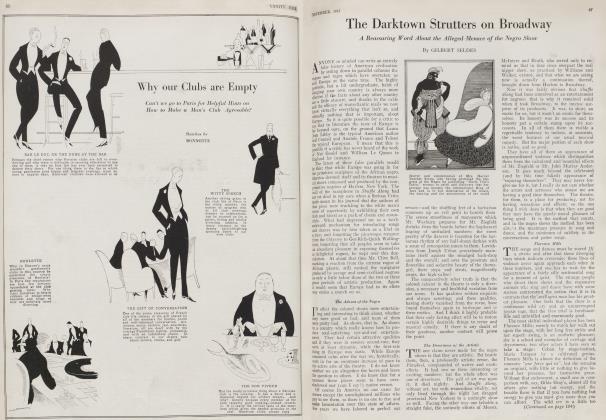Article Preview: The Darktown Strutters on Broadway, November 1922 1922 | Vanity Fair