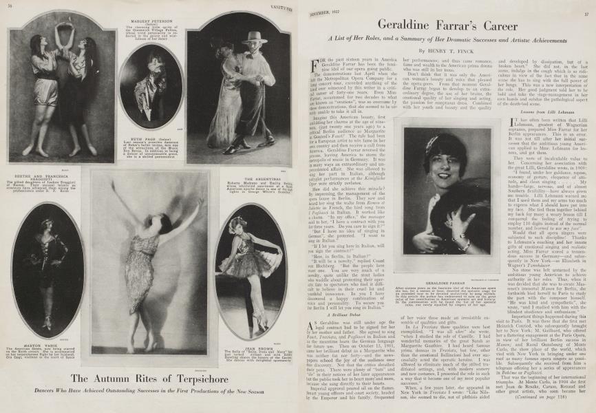Geraldine Farrar's Career
