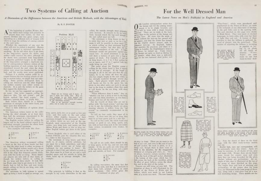 Two Systems of Calling at Auction